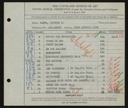 Entry card for Ramus, Charles F. for the 1928 May Show.