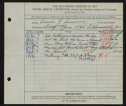 Entry card for Sommer, Edwin G. for the 1928 May Show.