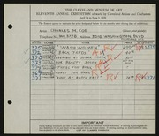 Entry card for Coe, Charles Martin for the 1929 May Show.