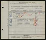 Entry card for Detlefs, Beatrice for the 1929 May Show.