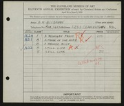 Entry card for Goodman, A. H. for the 1929 May Show.