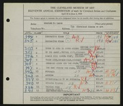 Entry card for Ramus, Charles F. for the 1929 May Show.