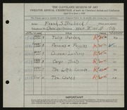 Entry card for Brubeck, Frank S. for the 1930 May Show.