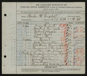 Entry card for Campbell, Charles M. for the 1930 May Show.