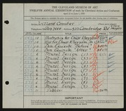 Entry card for Combes, Willard Wetmore for the 1930 May Show.