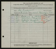 Entry card for Crosbys, The for the 1930 May Show.