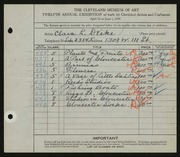 Entry card for Deike, Clara L. for the 1930 May Show.
