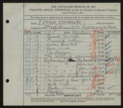 Entry card for Eppink, Norman Roland for the 1930 May Show.