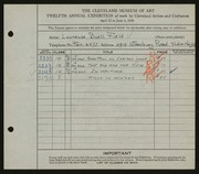 Entry card for Field, Laurence Buell for the 1930 May Show.