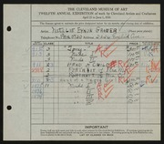 Entry card for Grauer, Natalie Eynon for the 1930 May Show.