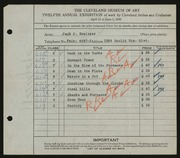 Entry card for Greitzer, Jack J. for the 1930 May Show.