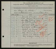 Entry card for Hall, Edgar S. for the 1930 May Show.