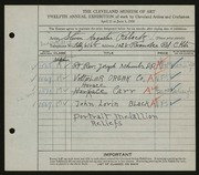 Entry card for Rebeck, Steven A. for the 1930 May Show.