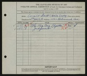 Entry card for Scott, Walter E. for the 1930 May Show.