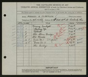 Entry card for Silberger, Manuel G. for the 1930 May Show.