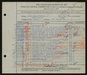 Entry card for Travis, Paul Bough for the 1930 May Show.