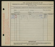 Entry card for Artcraft Printing Company, and Leonard, William Andrew; Sullivan, John T. for the 1931 May Show.