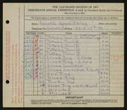 Entry card for Bailey, Annetta Agnes, and Dyer, Nora E. for the 1931 May Show.