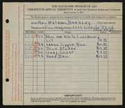 Entry card for Barkley, Maie Watkins for the 1931 May Show.