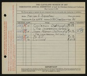 Entry card for Bonsteel, Marion E. for the 1931 May Show.