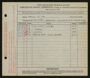 Entry card for Coe, Charles Martin for the 1931 May Show.