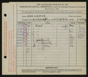 Entry card for Dyer, Nora E. for the 1931 May Show.