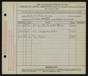 Entry card for Fleischman, Viola B. for the 1931 May Show.