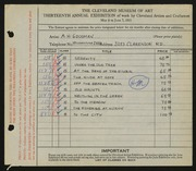 Entry card for Goodman, A. H. for the 1931 May Show.