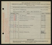 Entry card for McDonald, Edward Dixon for the 1931 May Show.