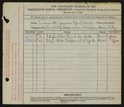 Entry card for Schmidt, Louise M. for the 1931 May Show.