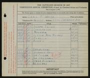 Entry card for Waite, Carl F. for the 1931 May Show.