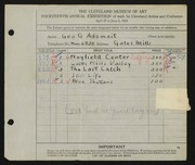 Entry card for Adomeit, George G. for the 1932 May Show.