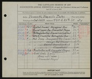 Entry card for Bates, Kenneth F. for the 1932 May Show.