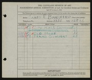 Entry card for Brainerd, James Eugene for the 1932 May Show.
