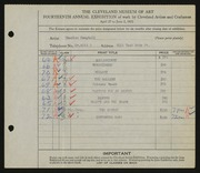 Entry card for Campbell, Charles M. for the 1932 May Show.