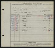 Entry card for Lederer, Edna T. for the 1932 May Show.