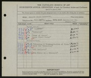 Entry card for McDonald, Edward Dixon for the 1932 May Show.