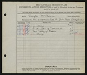 Entry card for McPherson, Douglas for the 1932 May Show.