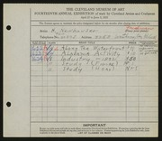 Entry card for Newhauser, Herman for the 1932 May Show.