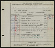 Entry card for Ramus, Charles F. for the 1932 May Show.