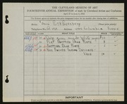 Entry card for Rosenberg, Ruth for the 1932 May Show.