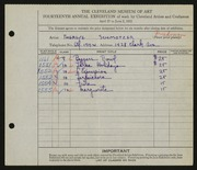 Entry card for Schmotzer, Therese A. for the 1932 May Show.