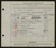 Entry card for Schrauf, Leroy J. for the 1932 May Show.