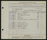 Entry card for Stitt, Edwin M. for the 1932 May Show.
