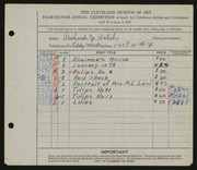 Entry card for Walsh, Richard J. for the 1932 May Show.
