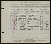 Zak, Maxmillian-1932 May Show