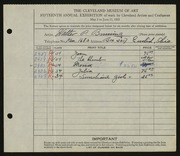 Entry card for Bruning, Walter P. for the 1933 May Show.