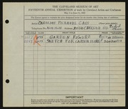 Entry card for Cass, Caroline Pickands for the 1933 May Show.