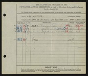 Entry card for Dyer, Nora E. for the 1933 May Show.