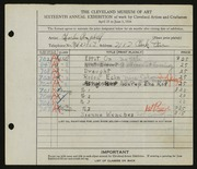 Entry card for Campbell, Charles M. for the 1934 May Show.